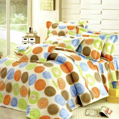 艾莉絲-貝倫 圓夢計畫 100%純棉 三件式雙人加大枕套床包組(青綠色)