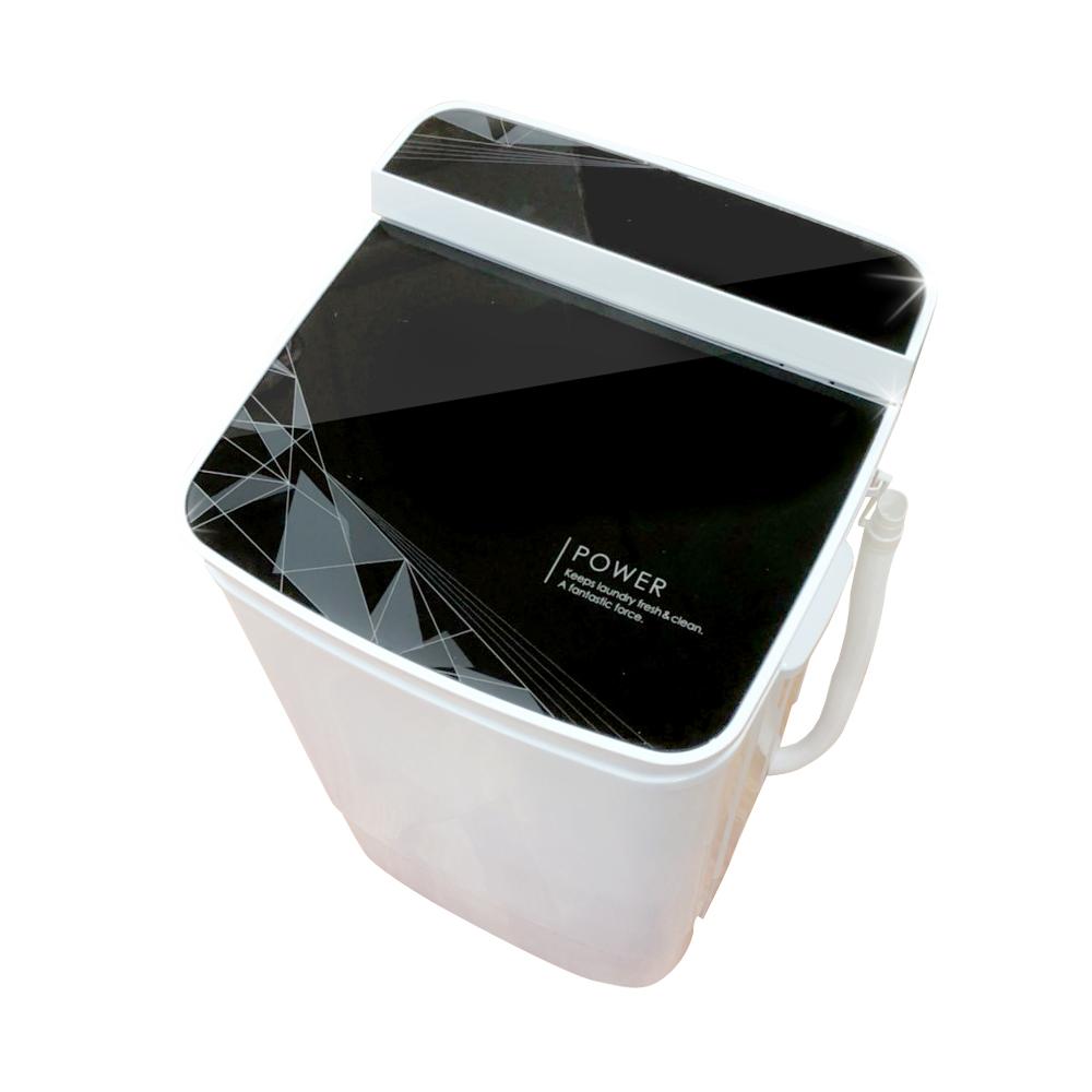 EDISON 愛迪生超會洗二合一單槽5.8公斤洗脫機/幾何黑