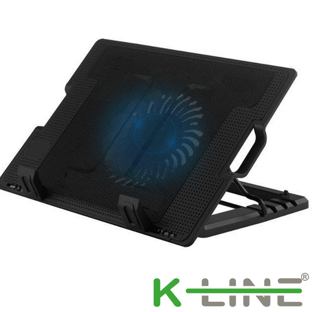 K-Line 37CM 超靜音筆電散熱支架(黑)