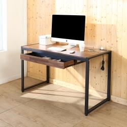BuyJM 工業風防潑水附插座方框工作桌(寬128x60x77公分)-DIY