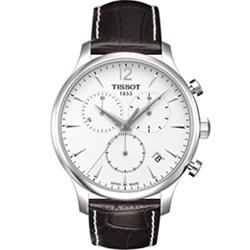 TISSOT T-TRADITION 極簡雅士計時腕錶-白/42mm