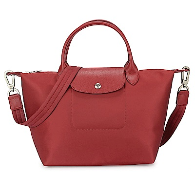 Longchamp Le Pliage Neo 短把小型水餃兩用包-紅色