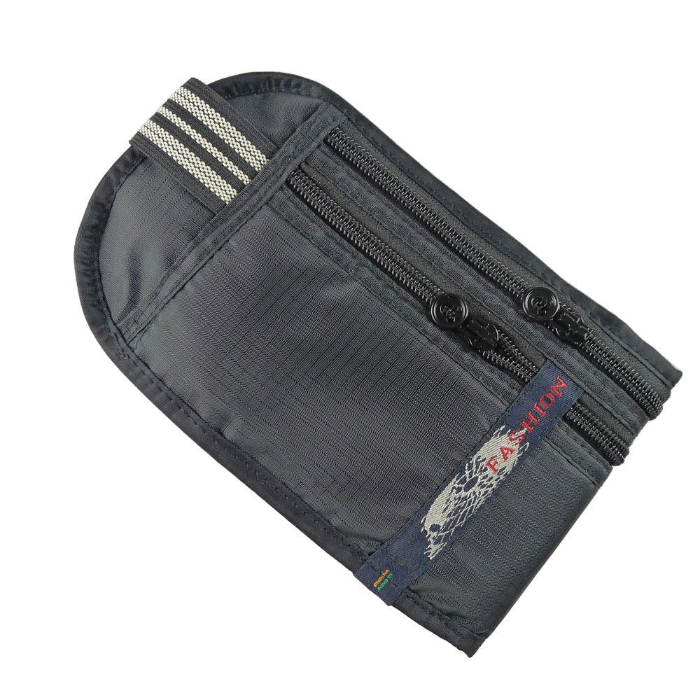 PUSH!嚴選 旅遊用品5艙室 FASHION 防搶護照隱形貼身腰包