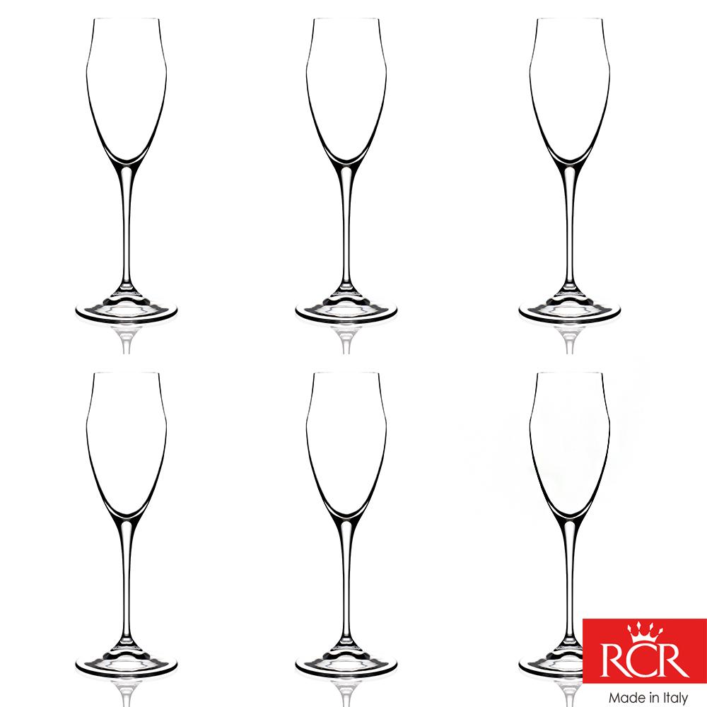 義大利RCR歐德無鉛水晶香檳杯 (6入)220cc