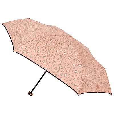 2mm 甜蜜豹紋 晴雨兩用輕量手開傘 (粉紅)