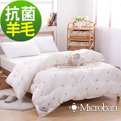Microban-純淨呵護 台灣製新一代抗菌羊毛被2.1kg