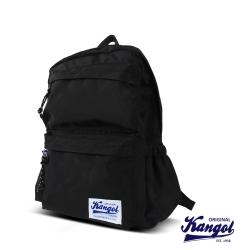 KANGOL 英式時尚潮流 特仕純黑款機能後背包-黑