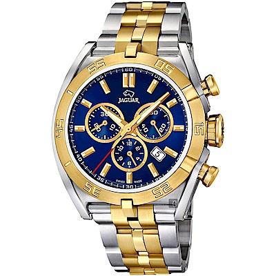 JAGUAR積架 EXECUTIVE 計時手錶-藍x雙色/45.8mm