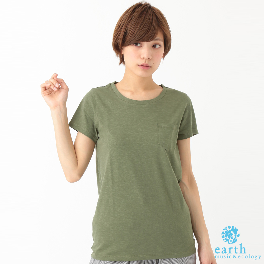 earth music&ecology 圓領短袖素T恤