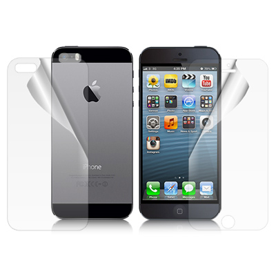 魔力 APPLE iPhone5/5S/SE 高透光抗刮螢幕保護貼(附背面貼)