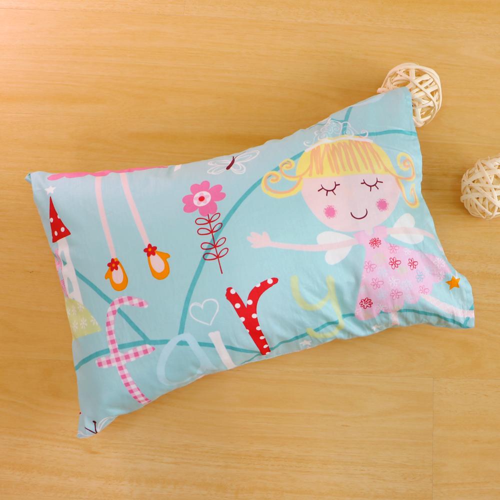 鴻宇HongYew 美國棉防蹣抗菌 公主城堡綠-兒童透氣多孔纖維枕