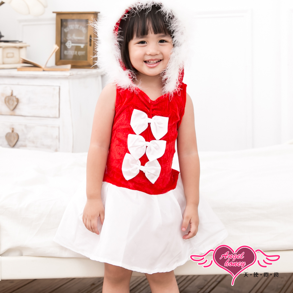 角色扮演 甜蜜童話 聖誕節派對兒童表演服(紅S.M) AngelHoney天使霓裳