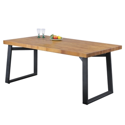 品家居 喬治4.4尺柚木餐桌-132x89.6x76cm-免組