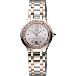 ENICAR 英納格 典藏時尚晶鑽石英女錶-銀x雙色版/32mm