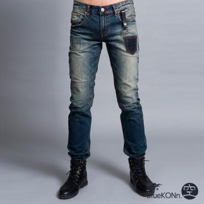 地藏小王 BLUE WAY 復古小口袋中低腰直筒褲