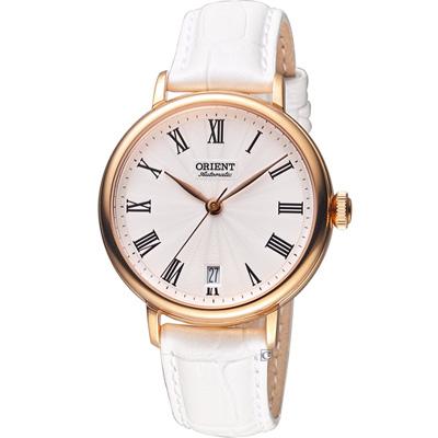 ORIENT 東方錶  羅馬假期復古機械錶-玫瑰金色/38mm
