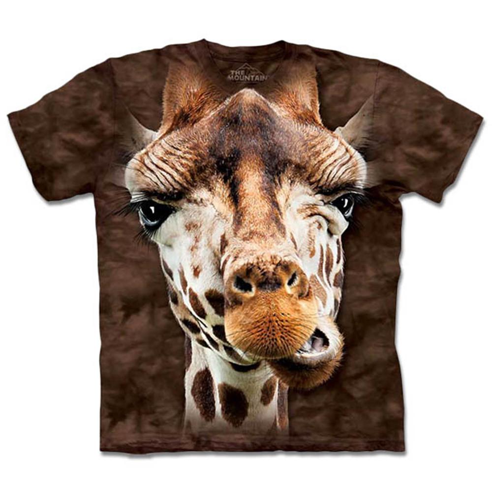 摩達客 美國進口The Mountain 長頸鹿 純棉環保短袖T恤