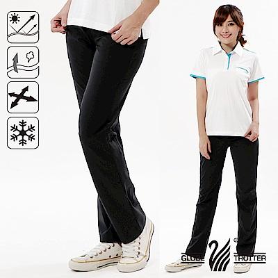 【遊遍天下】女款涼爽彈性顯瘦吸排抗UV長褲GP10001黑色