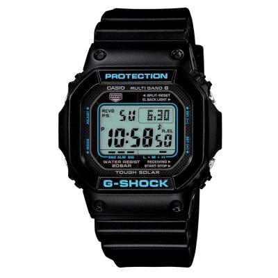 G-SHOCK 酷炫魅力天空藍X酷黑設計休閒電波錶(GW-M5610BA-1)-43.2mm