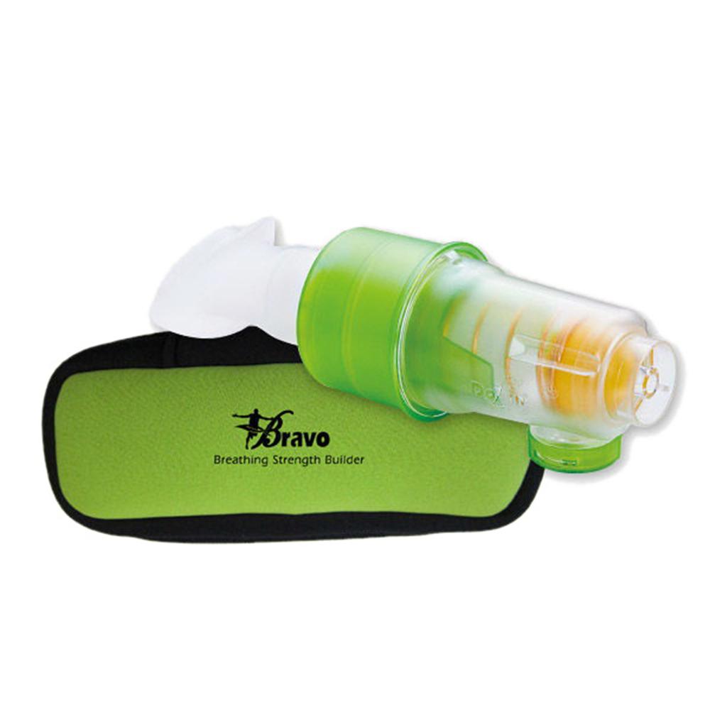 【X-BIKE 晨昌】Bravo舒呼樂 呼吸訓練器 一般訓練款 吸吐二合一(青草綠)