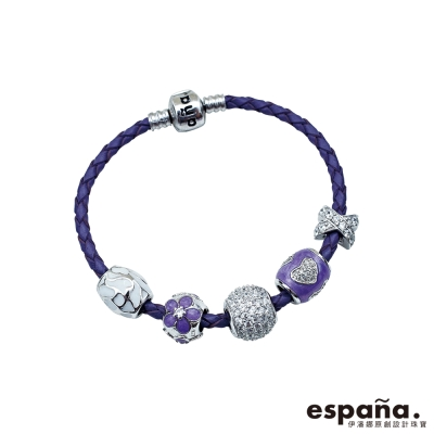 ESPANA伊潘娜 甜美夢境純銀串珠皮革手鍊