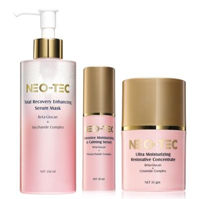 NEO-TEC妮傲絲翠 敏弱肌膚專用葡聚醣全能修復組(精華面膜+精華+乳霜)