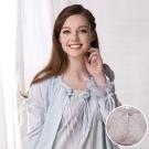 羅絲美睡衣 - 奢華蕾絲長版薄外套-外件 (淺粉)