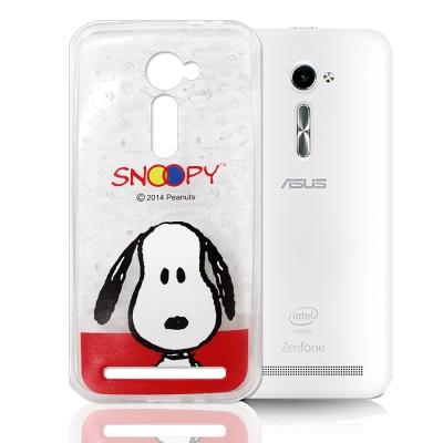 史努比 華碩 ASUS Zenfone 2 5.0吋 透明軟式手機殼 頭貼款