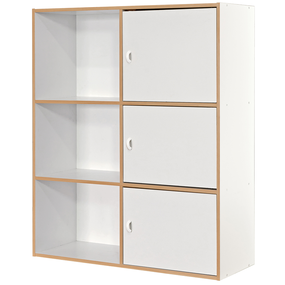 【尼普頓】六格三門櫃 -白色