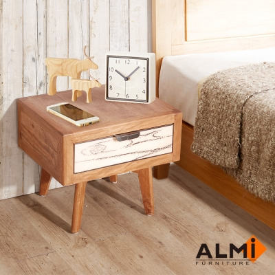 ALMI-BEDSIDE 1 DRAWER 床頭櫃W50*D40*H42CM