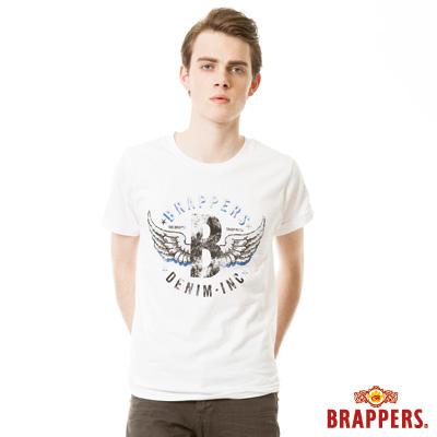 BRAPPERS 男款 日本製大翅膀印花短袖T恤- 白