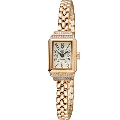 玫瑰錶 Rosemont 骨董風玫瑰系列VI時尚鍊錶-玫瑰金色/15x26mm