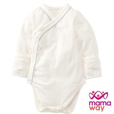 Mamaway 新生兒內著包屁衣(淺粉藍)
