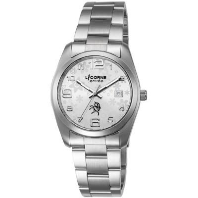 LICORNE 恩萃 Entree 簡約時尚設計都市腕錶-象牙白x銀白/36mm