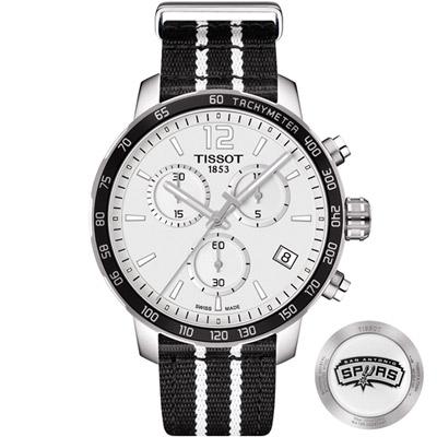 TISSOT 天梭 X NBA 聖安東尼奧馬刺隊特別版腕錶-42mm