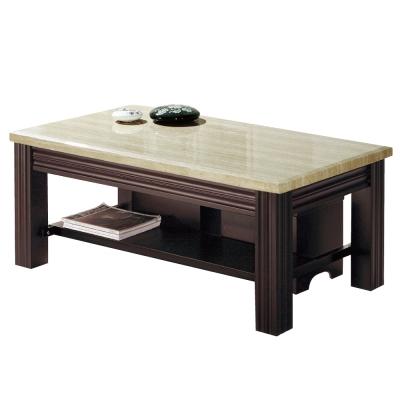 品家居 安德魯4尺石面大茶几(附收納椅凳2張)-128x68x46cm-免組