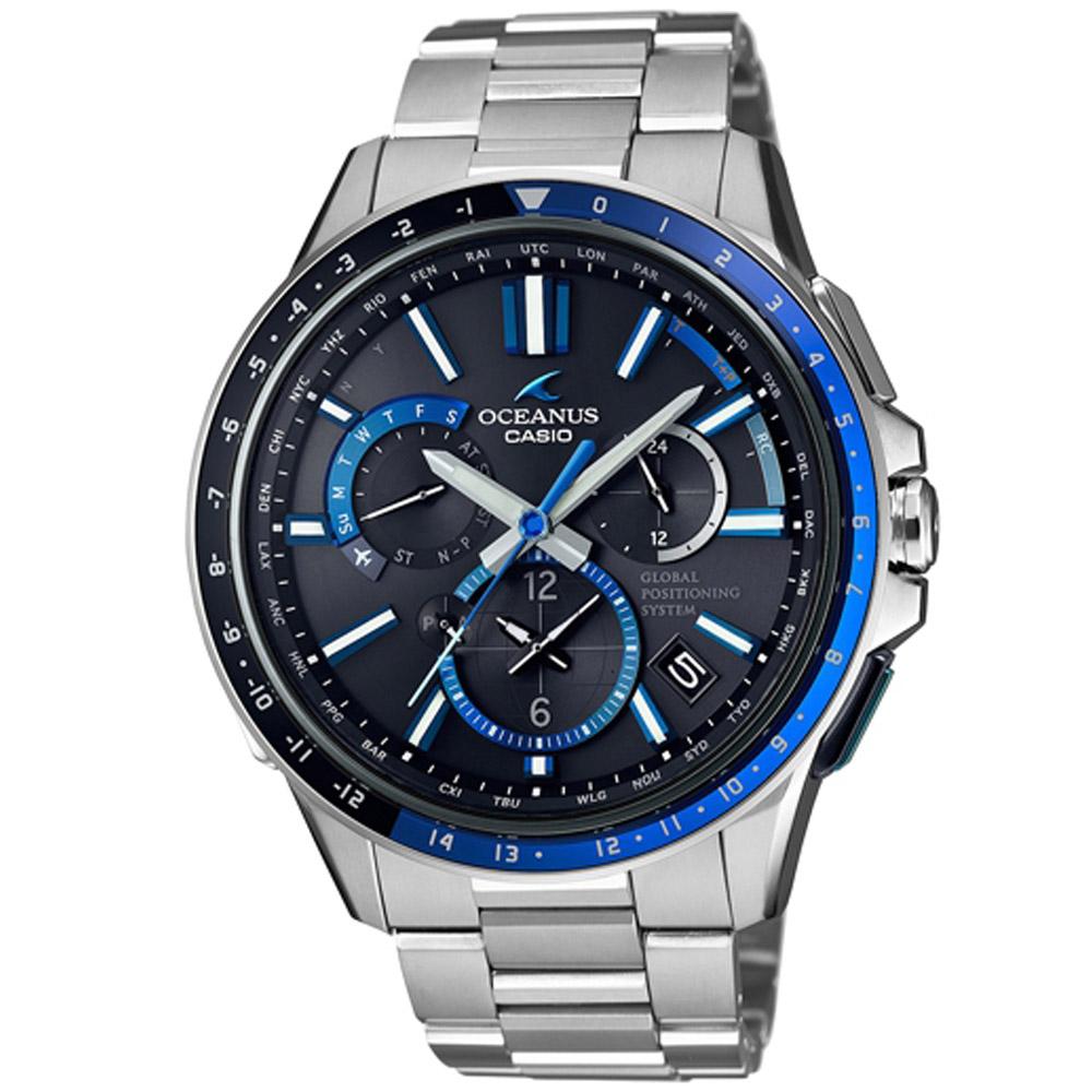 OCEANUS 極致完美躍動GPS電波頂級腕錶(OCW-G1100-1A)/46.1mm