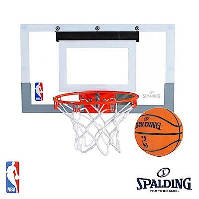 SPALDING 掛式小籃板 NBA 壓克力金屬籃板 附球 SPB56099【SP】