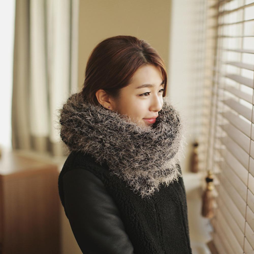 【Chic Girl】奢華柔軟毛海保暖領圍圍巾 (共五色)