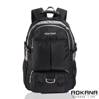 AOKANA奧卡納 - 台灣釦具 防潑水電腦後背包68-064 - 灰