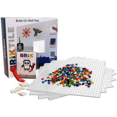 美國BRIK 積木牆片 豪華六片組-白色