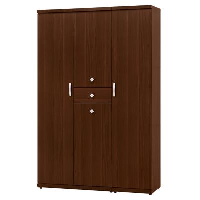 愛比家具 柯蕾布4x6尺胡桃色高鞋櫃(附內鏡)- 119.5×39.8×182cm