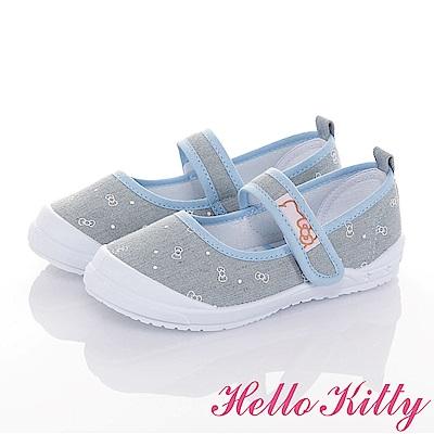 HelloKitty 牛仔系列 輕量抗菌防臭室內外娃娃童鞋-水