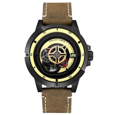 Lee  十字狙殺時尚機械腕錶-LES-M55DBL5-91/44mm