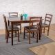 簡約風 愛得乃納 餐桌+黑咖啡斯巴瑞排骨椅-110x70x75cm product thumbnail 1
