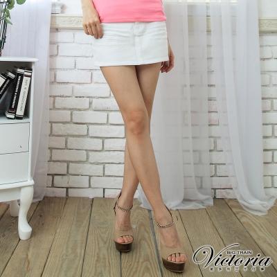 Victoria 白色休閒短裙-女-白