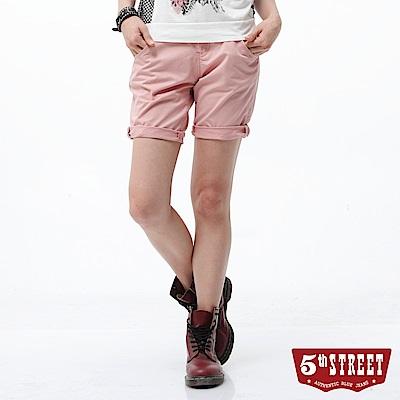 5th STREET 街霸休閒五分褲-女-粉色