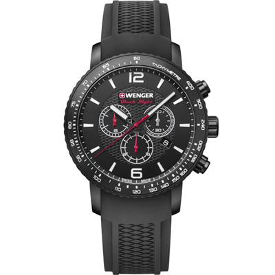 瑞士WENGER Roadster 速度競速計時腕錶(01.1843.102)45mm