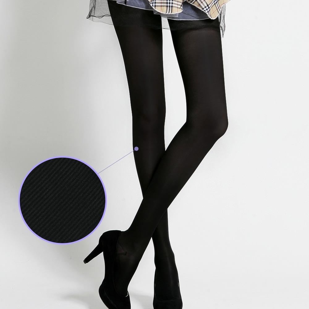 足下物語 360丹輕盈美腿襪 2件組S-L(條紋黑)