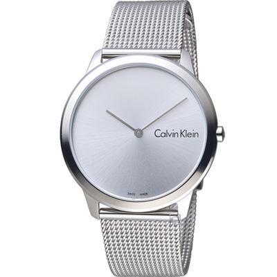 Calvin Klein 優雅米蘭帶石英錶(K3M211Y6)銀白/40mm